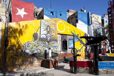 buildings painted in colourful afro cuban
