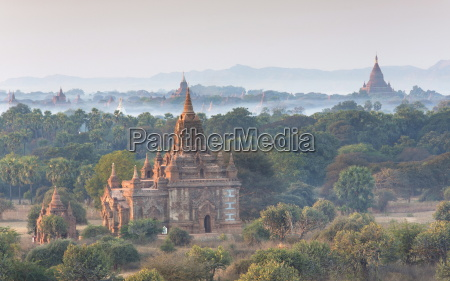 view over the temples of bagan