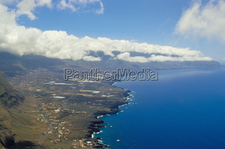 aerial view of the southern coast