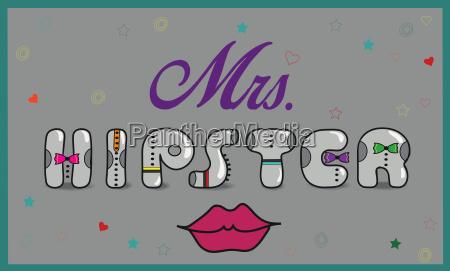 mrs hipster vintage artistic font