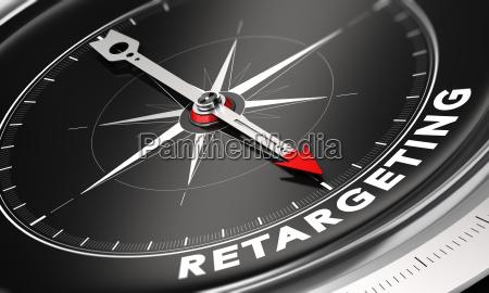 behavioral retargeting or remarketing concept