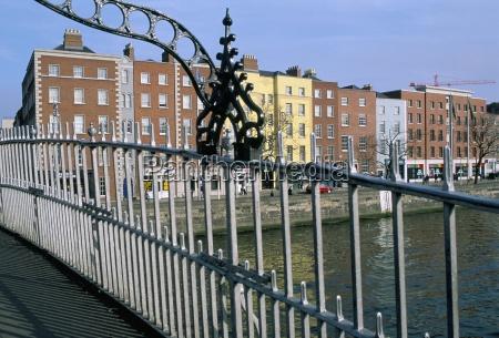 the hapenny bridge over the liffey