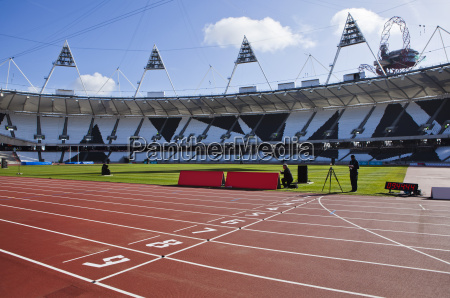 the finishing line of the athletics