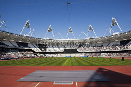 inside the olympic stadium during the