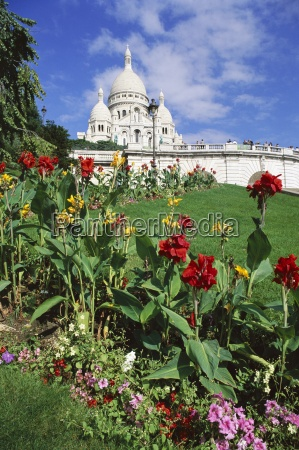 sacre coeur cathedral paris france europe