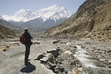 trekker enjoys the view on the