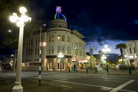 lampost and deco clock tower in