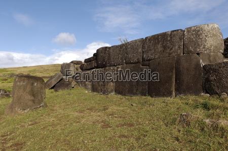 the ahu tahira rectangular stone platforms