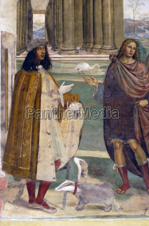 frescoes in cloister by high renaissance
