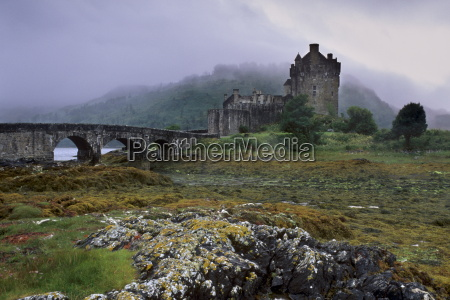 eilean donan castle standing where three