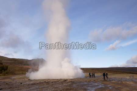 strokkur the churn erupts every 5