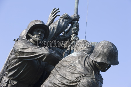 detail of statue of iwo jima