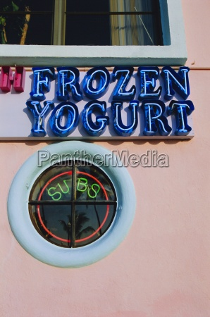 frozen yogurt sign miami florida usa
