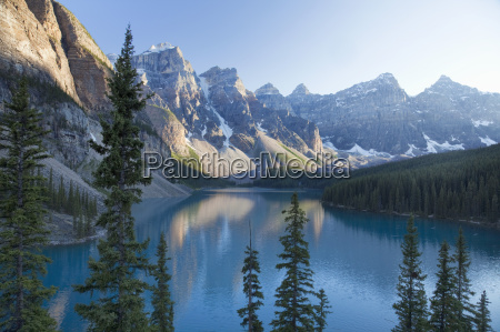 reflections in moraine lake banff national