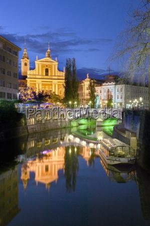 the triple bridge and the church