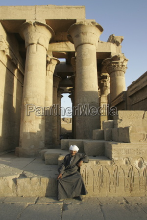 the caretaker kom ombo temple egypt