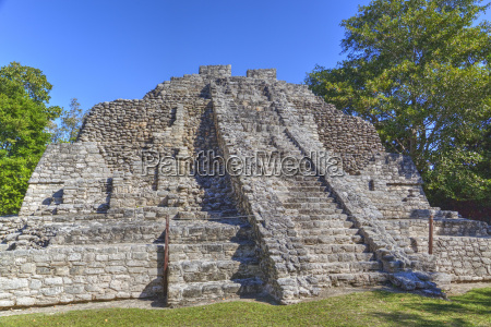 temple i chaccoben mayan archaeological site