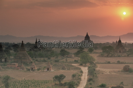 buddhist temples at archaeological site bagan