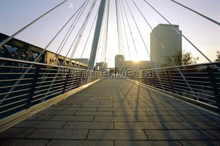 millennium bridge river thames london england