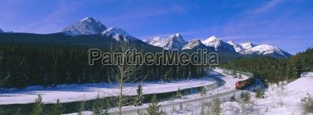 canadian pacific train near banff alberta