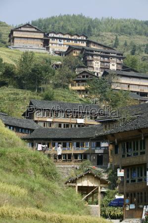village of pin gan longsheng ricefields