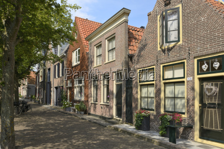 street of uniquely individual dutch houses