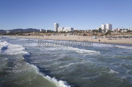 waves at santa monica state beach
