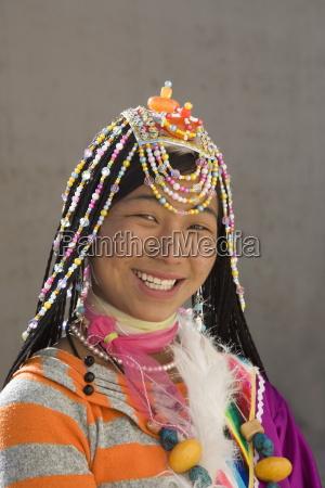 woman of the naxi minority people