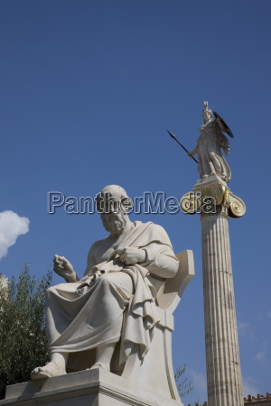 statue of plato the academy athens