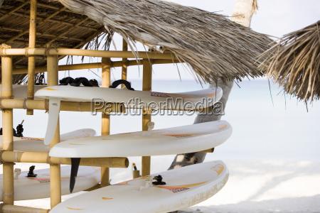 boards in the shade maldives