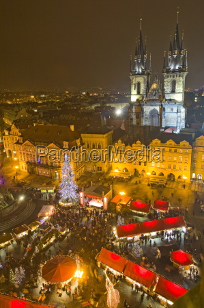 old town square and tyn cathedral