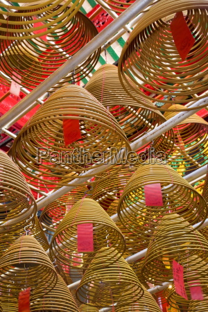giant spiral incense coils at the
