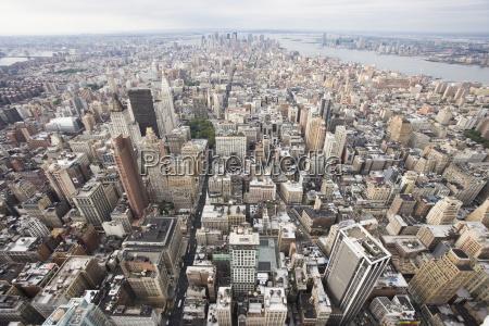 over manhattan new york city new