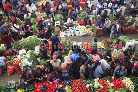produce market chichicastenango guatemala central america
