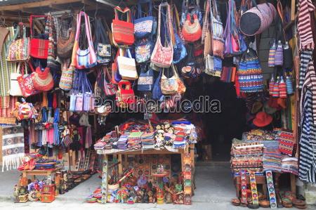 handicraft market panajachel lake atitlan guatemala