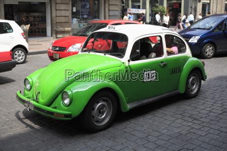 volkswagen taxi cab mexico city mexico
