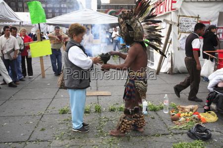 aztec folk healer shaman practising spiritual