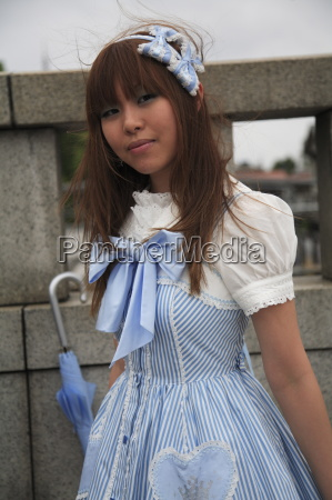 japanese woman in cosplay outfit harajuku
