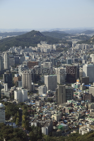 overview of city seoul south korea