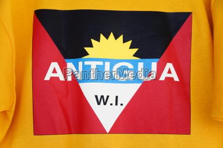 antigua and barbuda national flag on