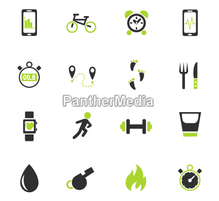 monitoring apps icon set