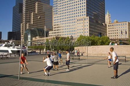 volley ball court world financial center