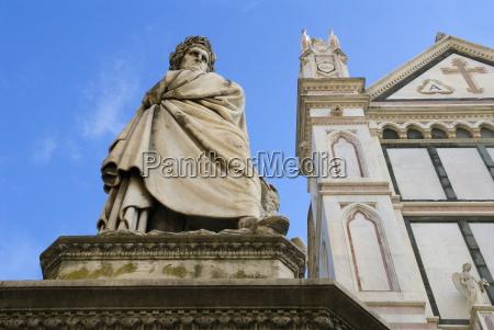 statue of dante alighieri santa croce