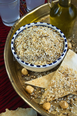 dukkah dokka dry mixture of chopped