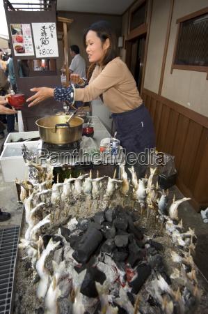barbequed fish stand takayama gifu prefecture