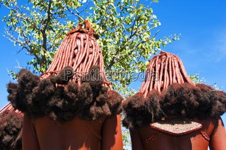 hairstyle of himba women kaokoveld namibia