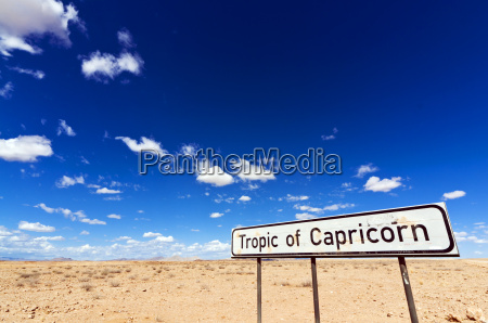 tropic of capricorn sign namib desert
