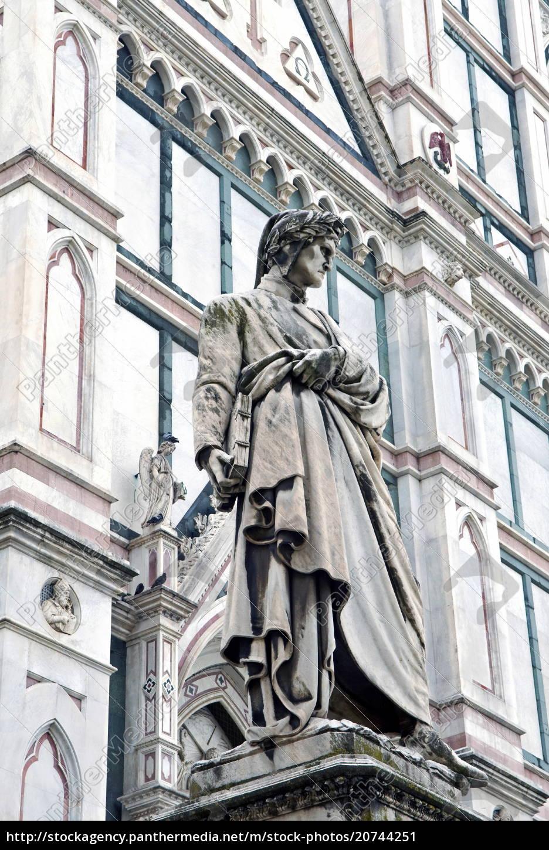 statue, of, dante, alighieri, , santa, croce, - 20744251