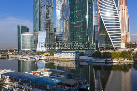 skyscrapers of the modern moscow city