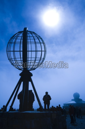 the globe monument at north cape